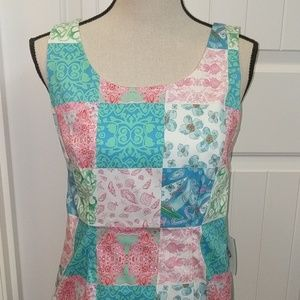 NWT Kaeli Smith nautical dress, 8, pink,green,blue